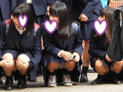 peeping JK 覗き見、逆さ鳥・・・の女子校生たちがエロすぎて困る